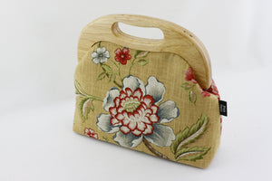 Rustic Flower and Bird Large Wood Frame Bag | PINKOASIS