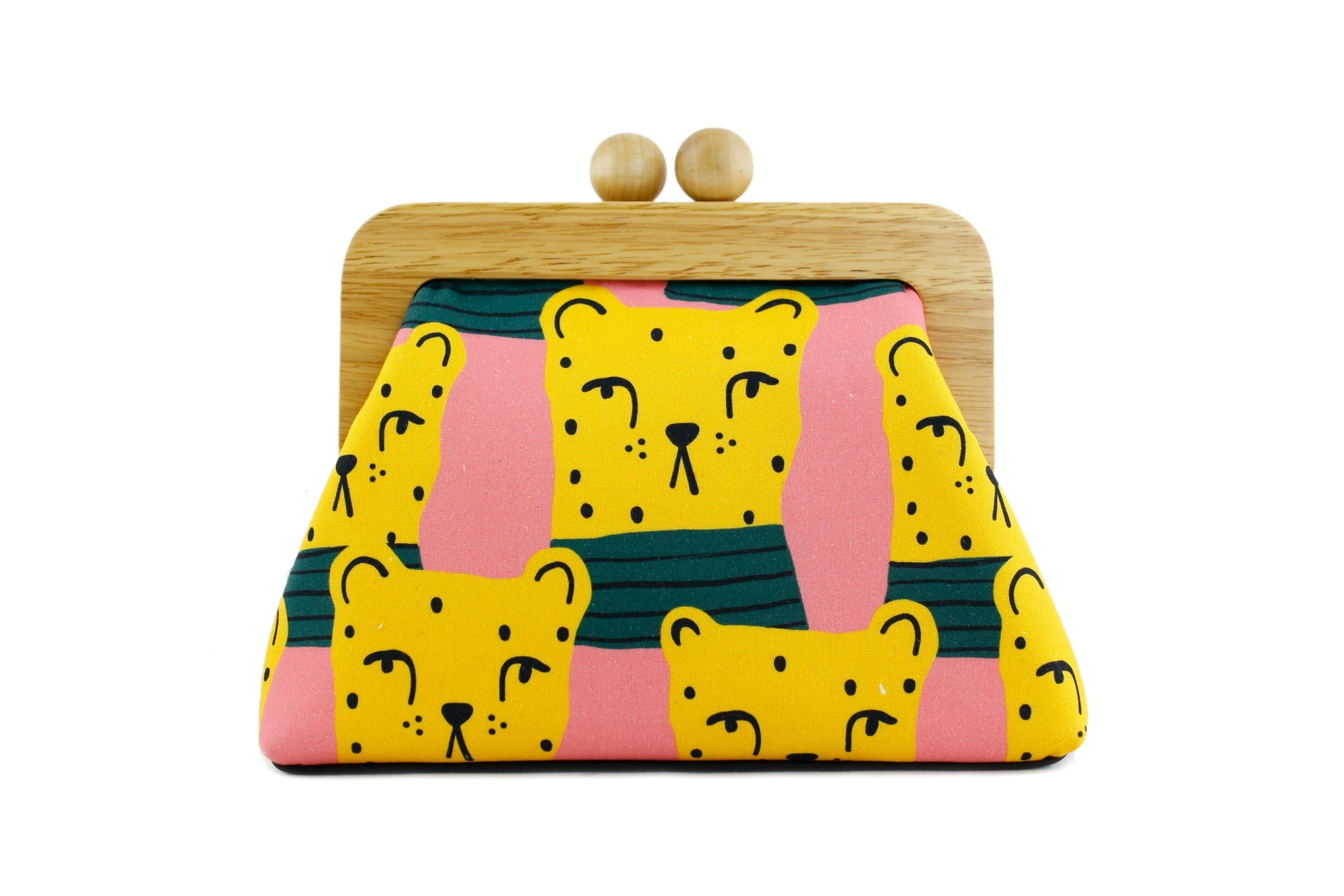 Colorful Chita Wooden Frame Bag with Leather Strap | PINKOASIS