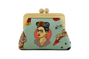 Frida Boho Clutch Bag with Leather Strap | PINKOASIS