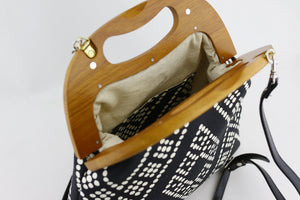 Black & White Dotted Pattern Oversized Women's Clutch Bag | PINKOASIS