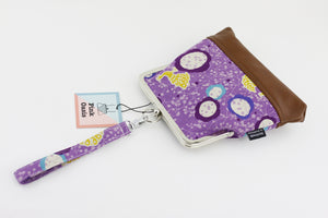 Purple Peacock Wristlet  | PINKOASIS