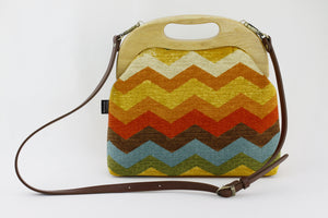 Retro Colourful Chevron Oversized Clutch Bag  | PINKOASIS
