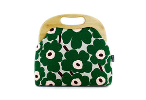 Unikko Poppy Green Oversized Clutch Bag  | PINKOASIS