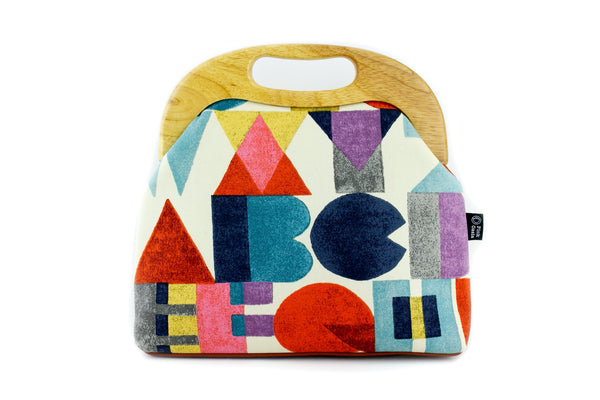 Colorful Letters Oversized Clutch Bag  | PINKOASIS