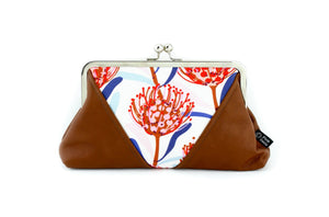 Native Waratah Kisslock Clutch  | PINKOASIS