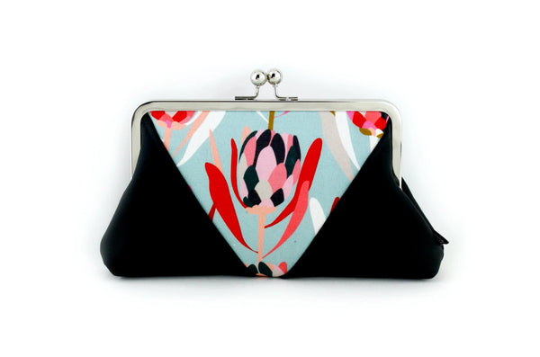 Beautiful Protea Floral Kisslock Clutch  | PINKOASIS