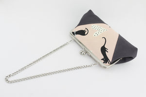 Cute Cat Kisslock Clutch  | PINKOASIS
