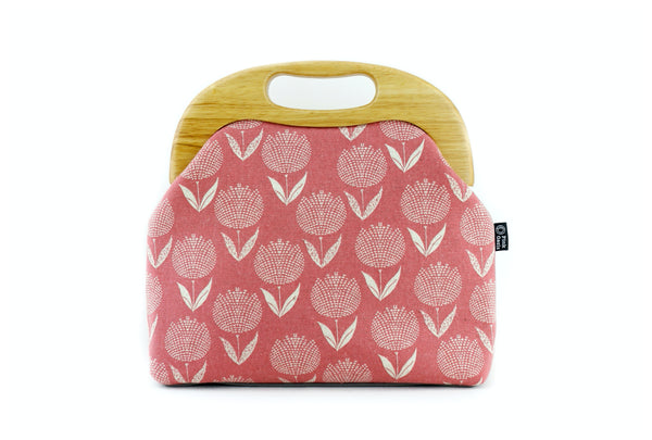 Pink Tulips Oversized Clutch Bag  | PINKOASIS