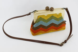 Retro Colorful Chevron Clutch  | PINKOASIS