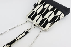 Black & Cream Arrows Wristlet  | PINKOASIS