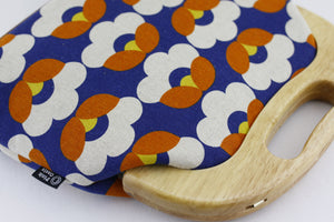 Navy & Orange Tulip Oversized Clutch Bag  | PINKOASIS