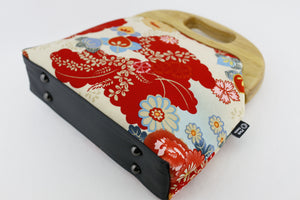 Japanese Garden Red Flower Oversized Clutch Bag  | PINKOASIS