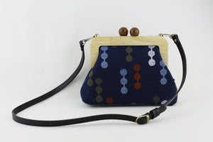 Navy Blue with Colorful Dots Clutch  | PINKOASIS