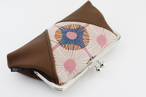 Abstract Circle Flowers Kisslock Clutch  | PINKOASIS