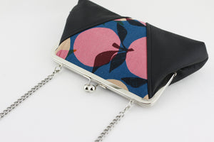 The Peach Pink & Blue Kisslock Clutch  | PINKOASIS