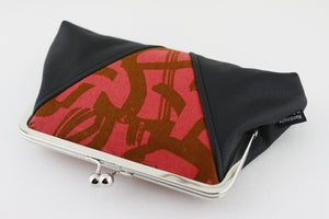 Brush Paint Red Kisslock Clutch  | PINKOASIS