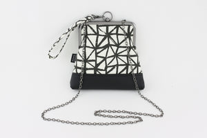Black & White Triangles Wristlet  | PINKOASIS