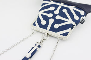 Navy Unique Pattern Wristlet  | PINKOASIS