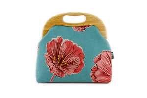 Red & Teal Flower Oversized Clutch Bag  | PINKOASIS