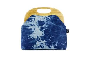 Shibori Denim Oversized Clutch Bag  | PINKOASIS