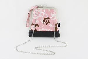 Lovely Pink Turtle Wristlet Bag with Chain Strap | PINKOASIS