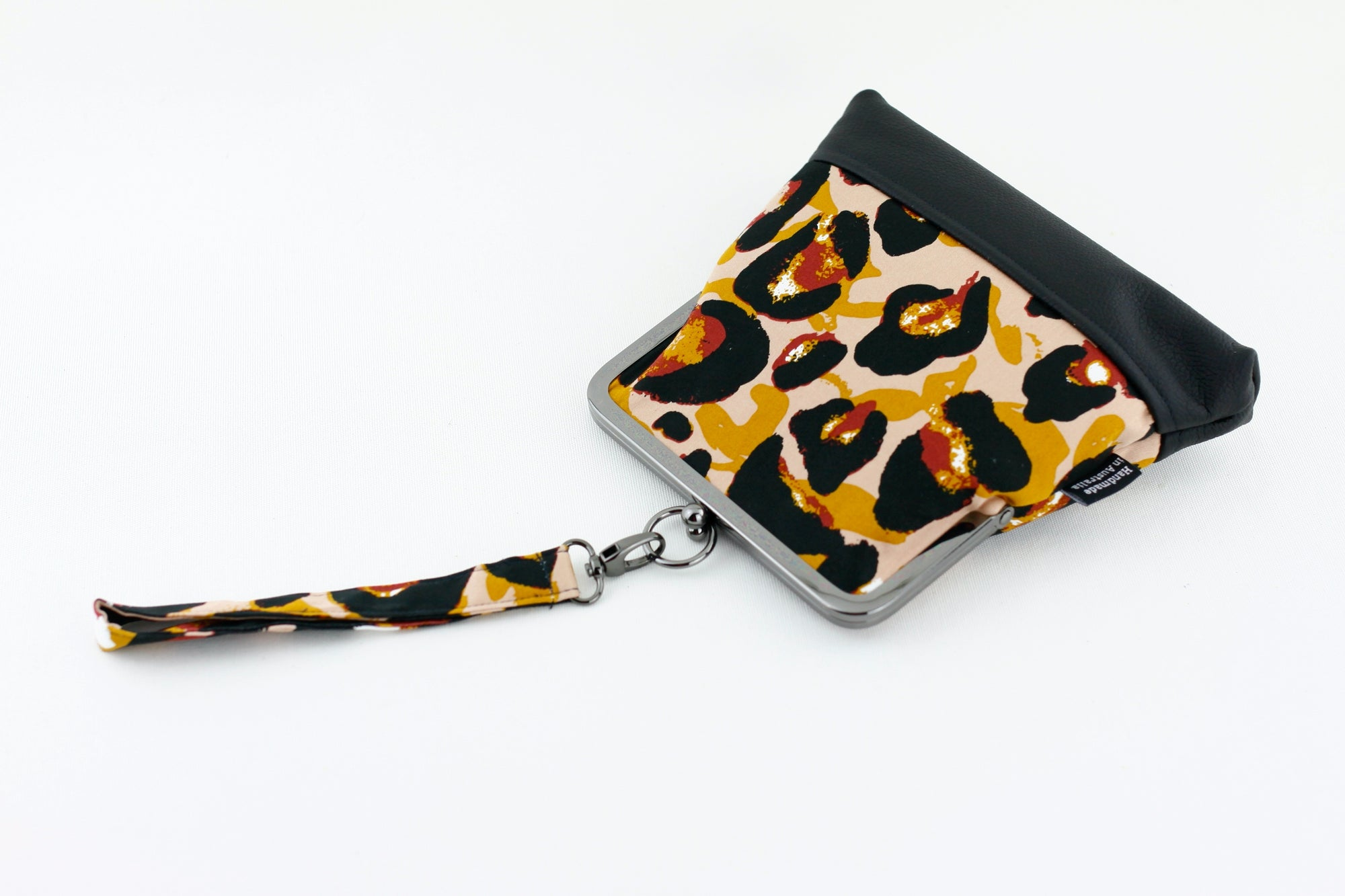 Abstract Leopard Wristlet Handmade in Australia | PINKOASIS