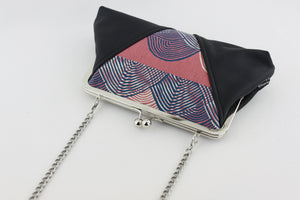 Coral Sea Waves Kisslock Clutch  | PINKOASIS