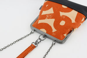 Orange Unique Pattern Wristlet  | PINKOASIS