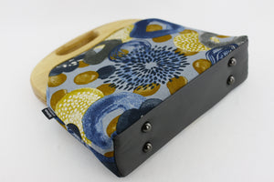 Abstract Blue Flower Oversized Clutch Bag  | PINKOASIS