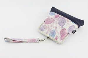 Purple Leaves Wristlet  | PINKOASIS
