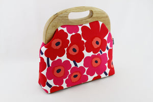 Unikko Poppy Red Oversized Clutch Bag  | PINKOASIS