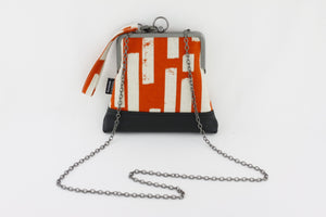 Rustic Orange Stripes Wristlet  | PINKOASIS
