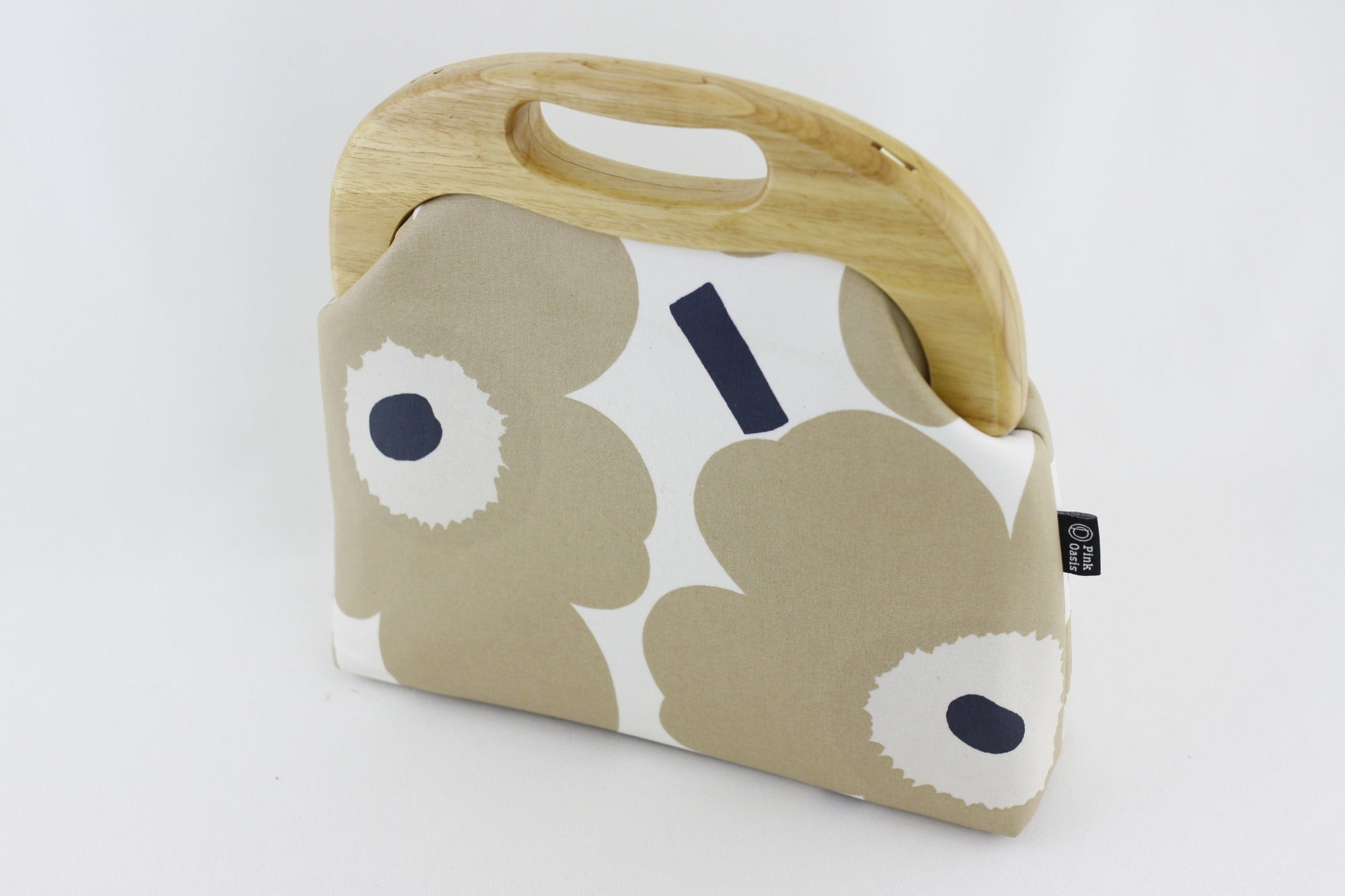 Unikko Poppy Cream Oversized Clutch Bag  | PINKOASIS