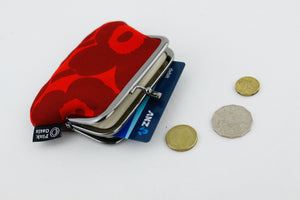 Poppy Crimson Coin Purse  | PINKOASIS