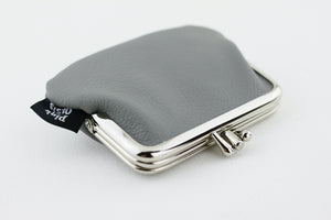 Grey Leather Coin Purse  | PINKOASIS