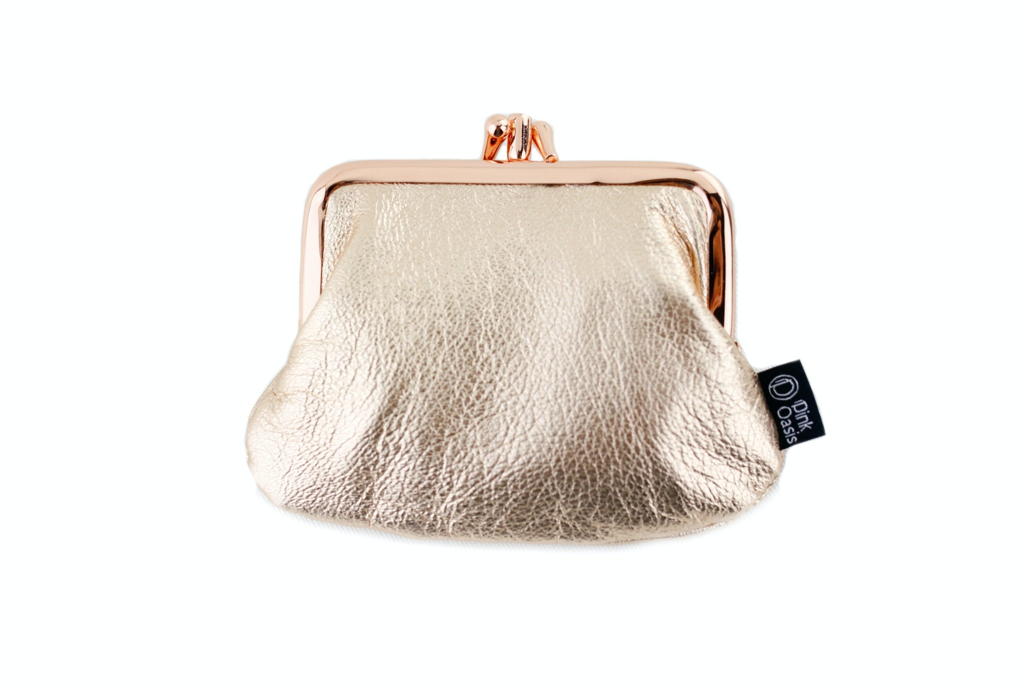 Metallic Leather Coin Purse  | PINKOASIS