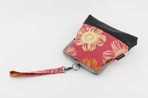Red Flower Wristlet Bag with Chain Strap | PINKOASIS