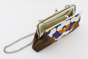 Navy & Red Tulip Kisslock Clutch  | PINKOASIS