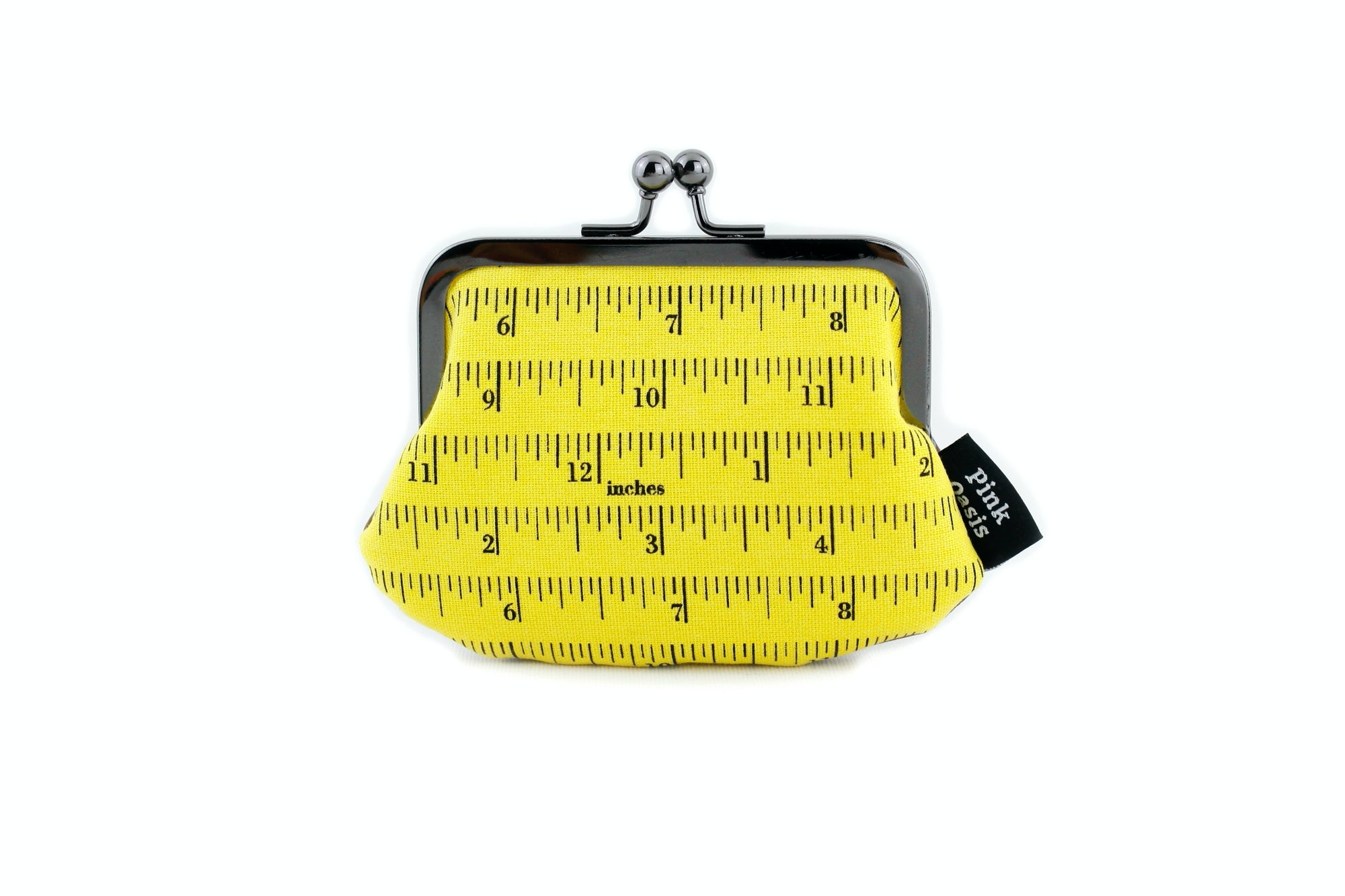 Yellow Measuring Tape Coin Purse  | PINKOASIS
