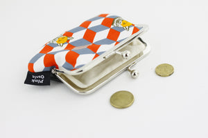 Fox & Geometrical Pattern Coin Purse  | PINKOASIS