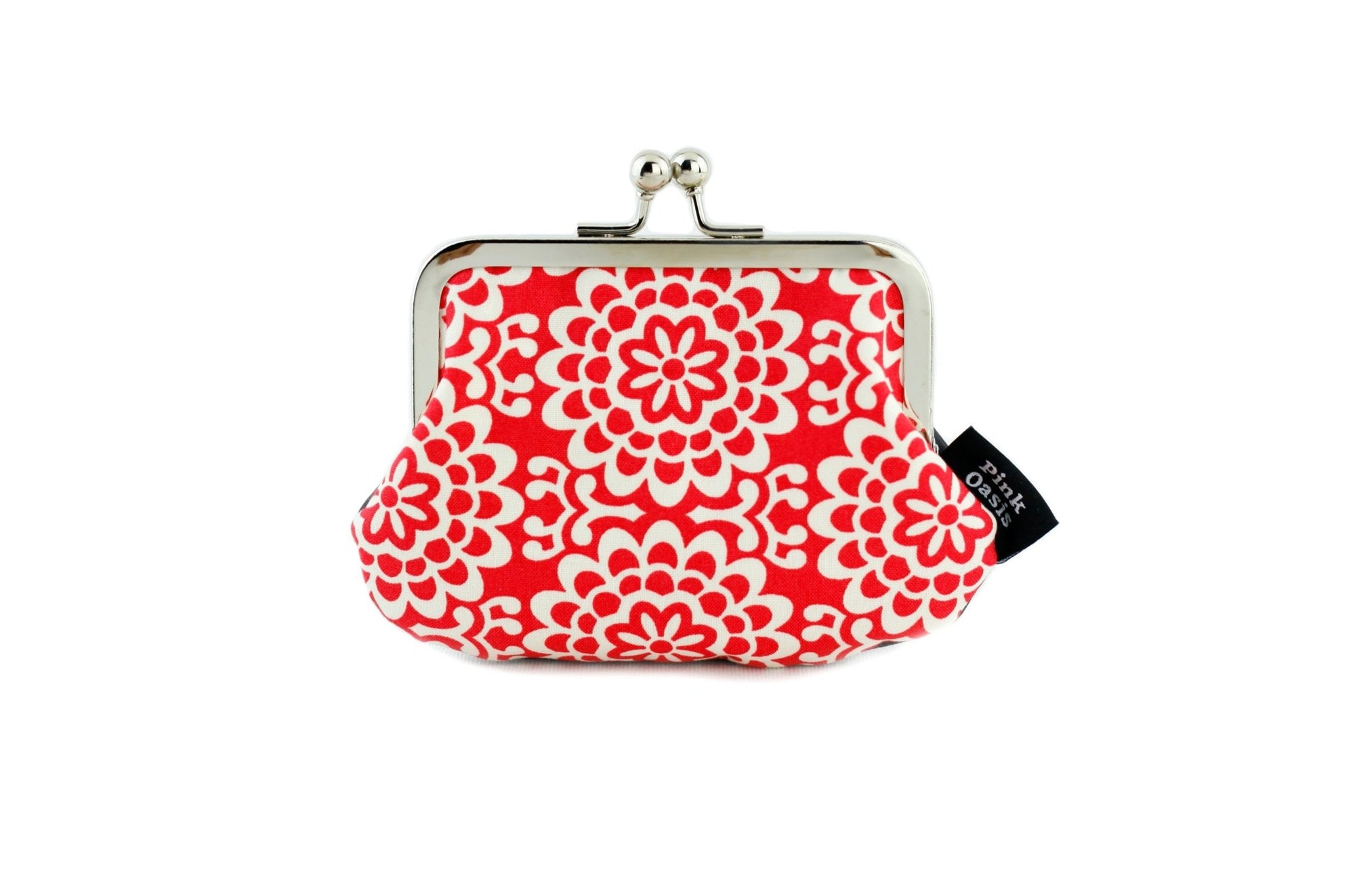 Red & White Wall Flower Coin Purse  | PINKOASIS