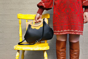 Wooden and Leather Bag  | PINKOASIS