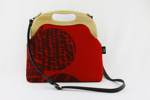 Abstract Pattern Large Wood Frame Bag