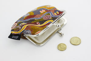 Aboriginal Art Pattern Coin Purse | PINKOASIS