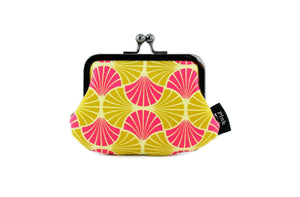 Fancy Leaves in Fuchsia & Gold Coin Purse | PINKOASIS