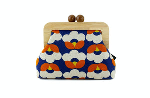 Rustic Tulip Floral Wooden Frame Clutch with Leather Strap | PINKOASIS