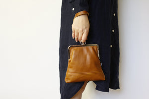 Distressed Brown Leather Wristlet Handmade in Australia | PINKOASIS