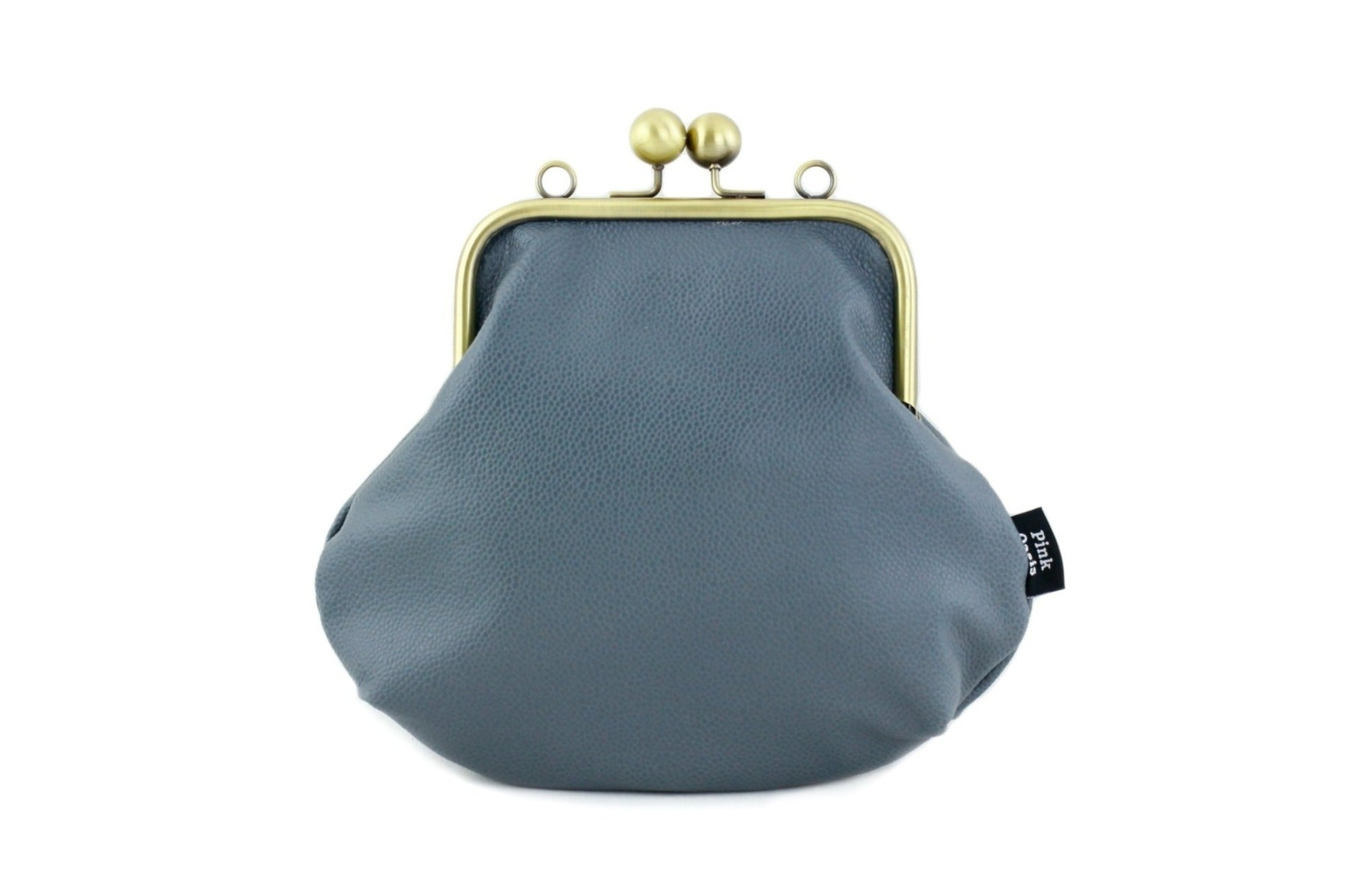 Women's Ash Grey Genuine Leather Clutch Bag with Strap | PINKOASIS