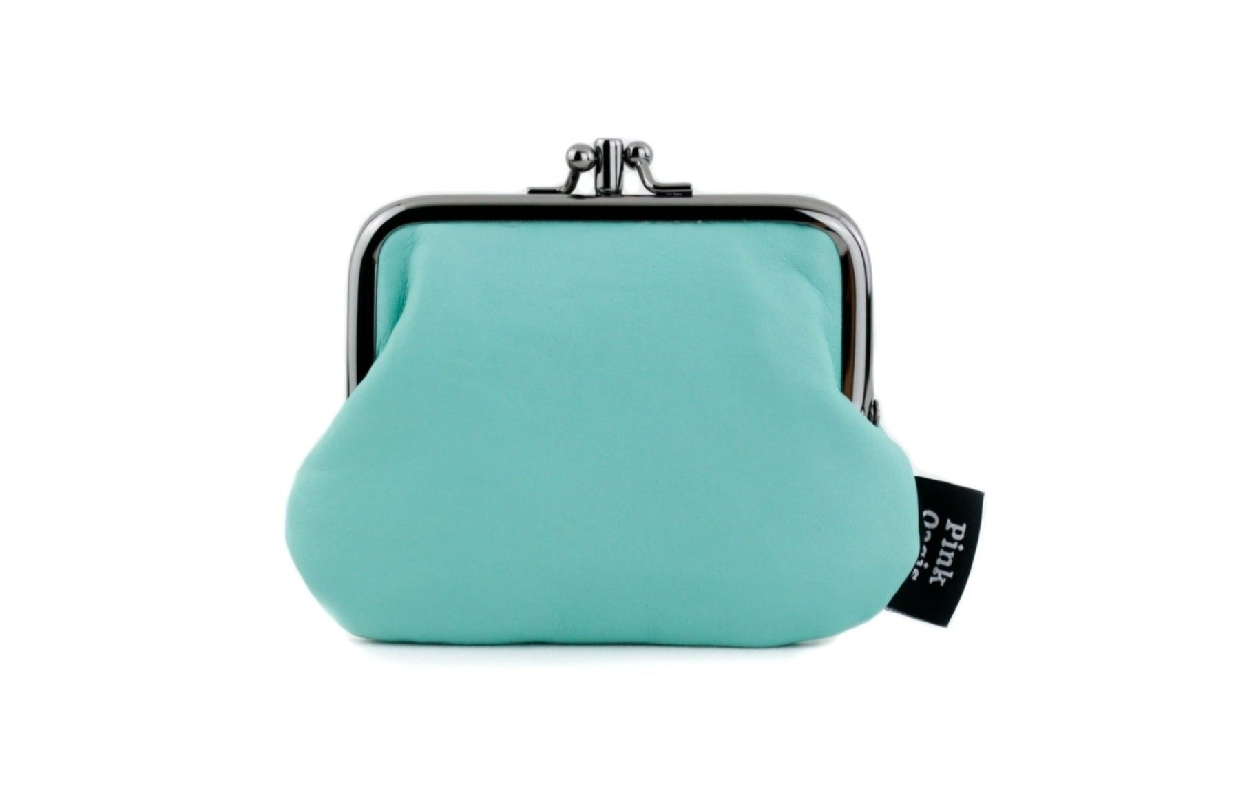 Mint Blue Leather Coin Purse Handmade in Australia | PINKOASIS