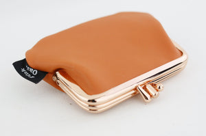 Peach Leather Coin Purse Handmade in Australia | PINKOASIS